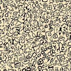 Pattern of symbols of modern human life