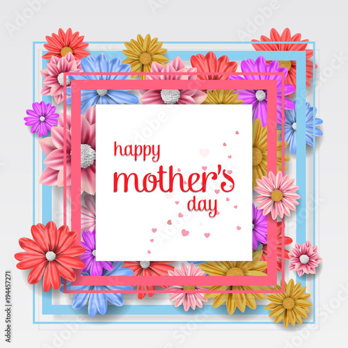 Happy Mothers Day Images Vector Mothers Day Greeting Card Happy