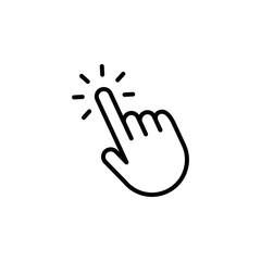 Click hand vector icon