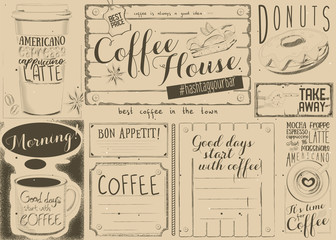 Coffee Menu Placemat