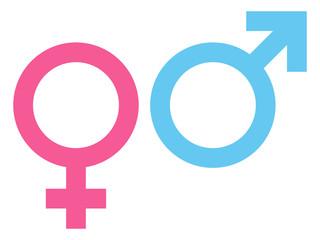 Woman & Man Icon Pink/Blue