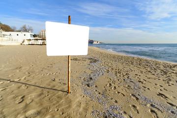 Billboard on the beach