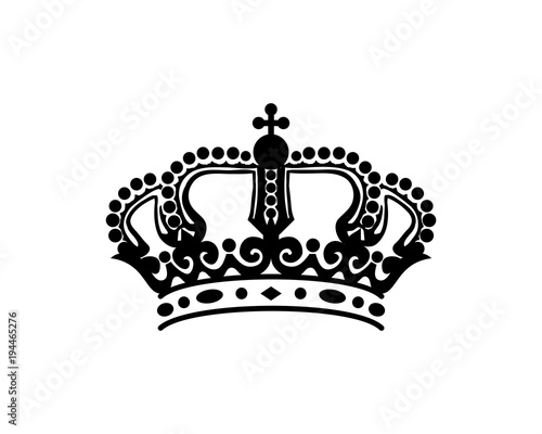 Luxury Classic Line Art Crown King Or Queen Sign Symbol Silhouette