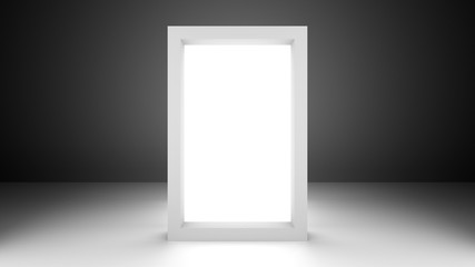 Empty Rectangle Poster Product Lightbox Panel In 3d Environment 3d Rendering