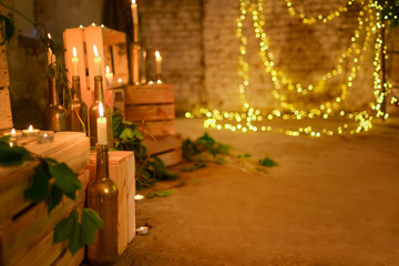 Loft wedding decorations