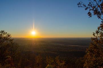 Fall sunset over Jacksonville, Alabama, USA