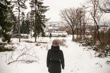 Woman watching the panorama
