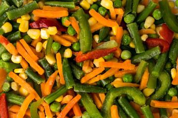 Frozen vegetables, background.