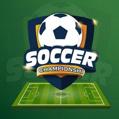 Soccer Logo. Logo Sports. Vector illustration of EPS10
