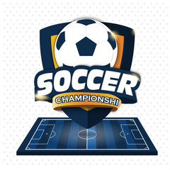 Soccer Logo. Logo Sports. Vector illustration of EPS10