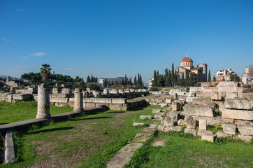 The Archaeological Site of Kerameikos in Athens, Greece