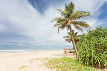 Bentota, Sri Lanka - A beatiful view across the wide beach of Bentota
