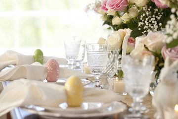 Easter spring special occasion dining table