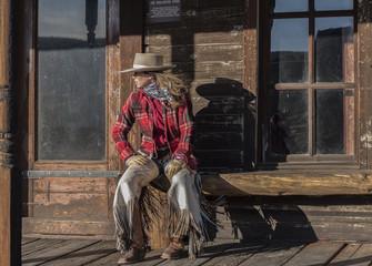 Cowgirl Sitting