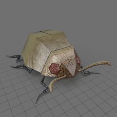 Stylized beetle