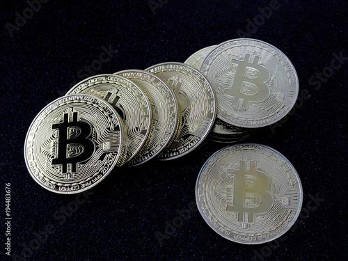 Bitcoin Münzen Der Crypto Währung Stockfotos Und Lizenzfreie
