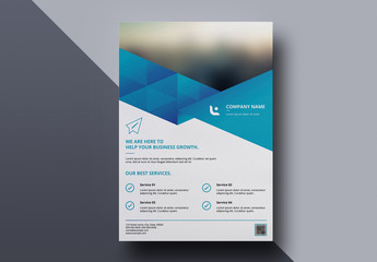 Business Brochure Layout with Blue Diagonal Headers 4