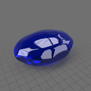 Transparent gemstone