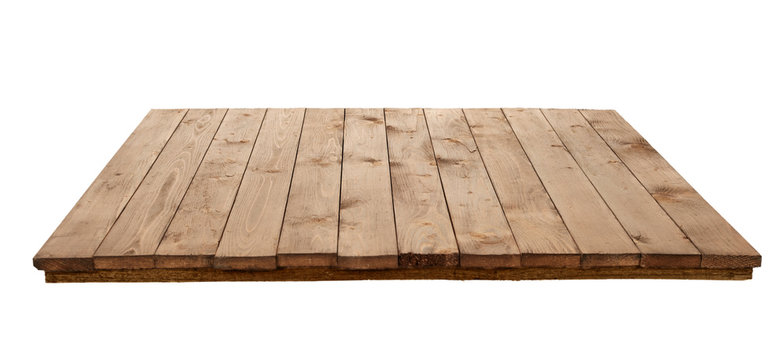 wooden board for background or texture isolated on white