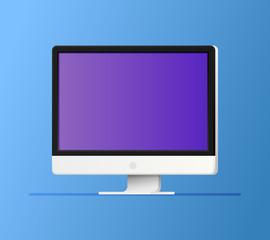 Vector flat computer monitor