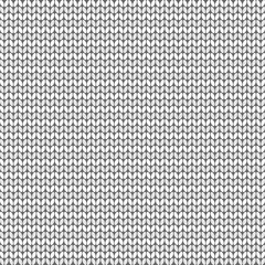Gray striped knitted background, vector illustration