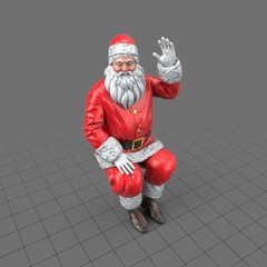Santa Claus figure sitting
