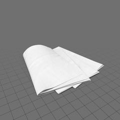 Stack of newspapers for mockup