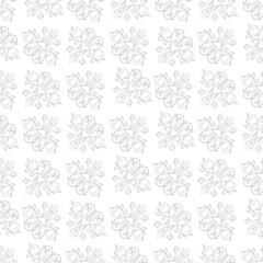 Classic seamless light silver pattern. Traditional orient ornament. Classic vintage background