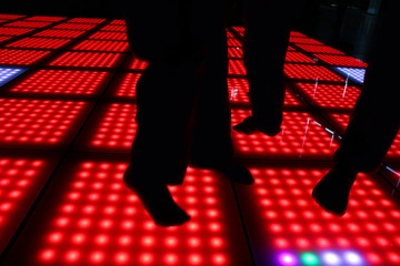 dancing steps on disco party