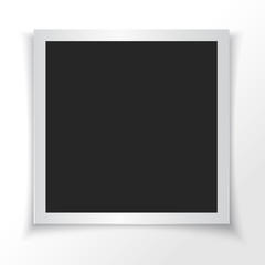 Retro photo frame. Vector illustration