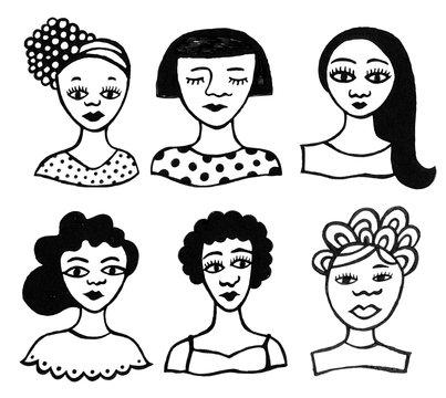 Woodcut Women