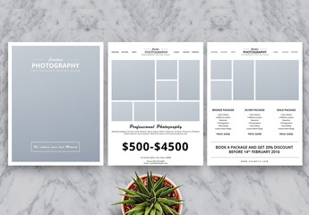Photography Business Price List Flyer Layout