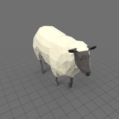 Stylized sheep walking