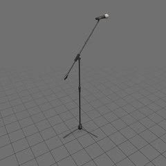 Microphone on adjustable stand