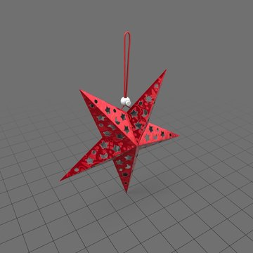 Star ornament with holiday pattern 1