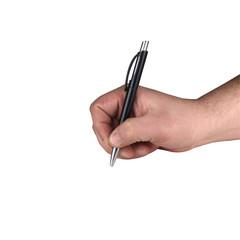 Obraz długopis w dłoni - fototapety do salonu