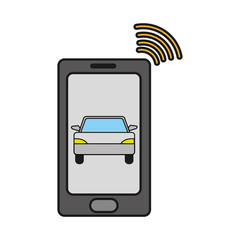 smartphone with car transport and used wifi