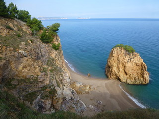 Cala de Bagur  / Begur, localidad de la provincia de Gerona en la Costa Brava situado en la comarca catalana del Bajo Ampurdán (Cataluña,España)