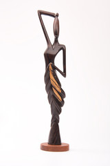 African traditional wooden figurine.