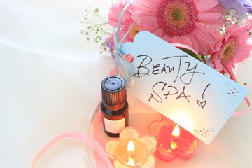 Aroma oil and flower for spa image