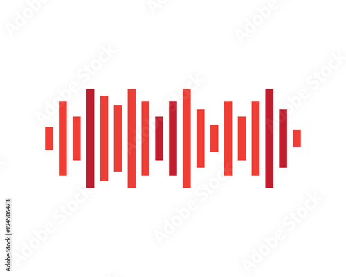 sound wave vector icon stock image and royalty free vector files on rh fotolia com