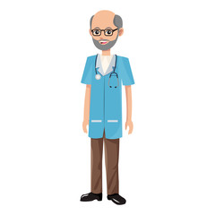 Doctor male cartoon vector illustration graphic design