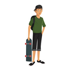 Young man cartoon vector illustration graphic design