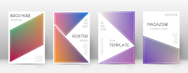 Flyer layout. Triangle original template for Brochure, Annual Report, Magazine, Poster, Corporate Presentation, Portfolio, Flyer. Bewitching gradient cover page.