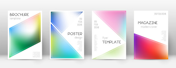 Flyer layout. Triangle optimal template for Brochure, Annual Report, Magazine, Poster, Corporate Presentation, Portfolio, Flyer. Beautiful bright cover page.