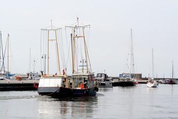 Fishing boat in de harbor of Urk