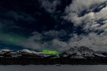 Northern Lights Aurora Borealis, Yukon Territory, Canada