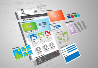 Website design and development project conceptual image
