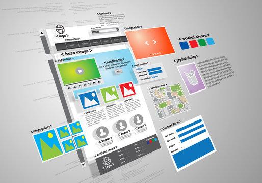 Website design and development project conceptual image