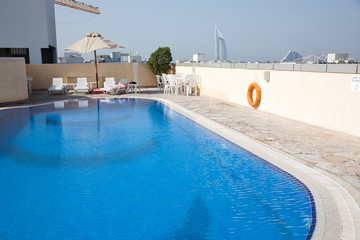 rooftop swimming pool in Dubai